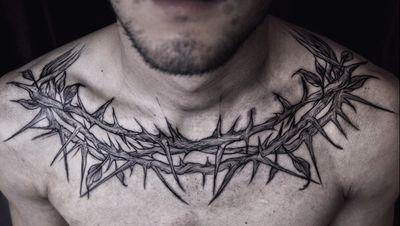#tattoo #blackwork #blackworktattoo #thorns #jesus