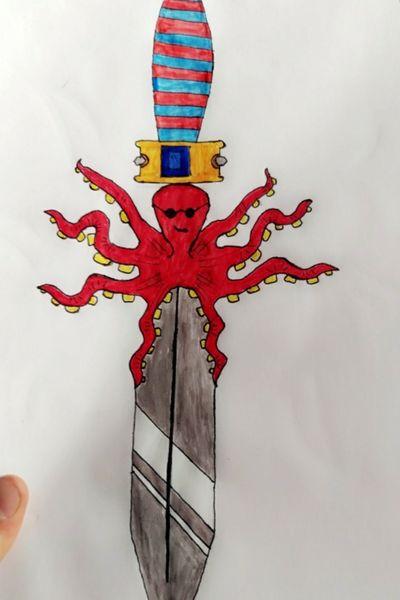 Just a try #weapon #octopus #kraken #knife