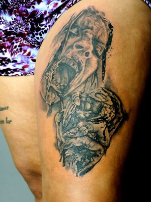 @eto_tattoo on intagran #zombietattoo #zombie #twd