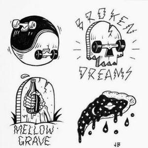 Skate Sketches / Skate Stamps #skate #skatetattoo #skateboard