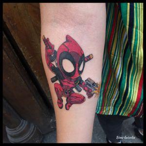 Dead pool hahaha ❤️🔥 #bims #bimskaizoku #bimstattoo #paris #paristattoo #paname #tatouage #parisienne #deadpool #hero #antihero #color #ninja #nofilter #true #pasdetriche #tattoo #tatt #tattoomodel #tattoos #tatto #tatts #tattrx #tatted #tattoostyle #tattooer #tattoolove #tattoolife #tattooart