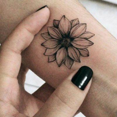 #flower #sunflower #women #cute #small #blackandgrey #delicate #beautiful #feminine