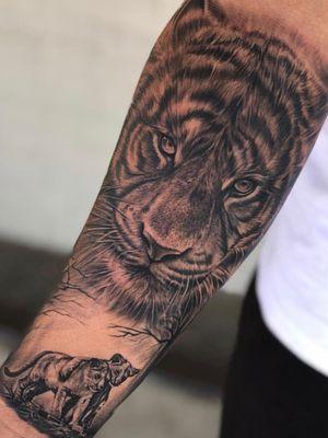 @claytattoos #blackandgrey#inked#tigertattoos#sleevetattoo#tiger#claytattoos#tattoos