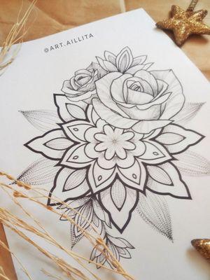 #sketch #sketching #geometric #flowers #triangle #rosa #tattoosketch #mandalasketch
