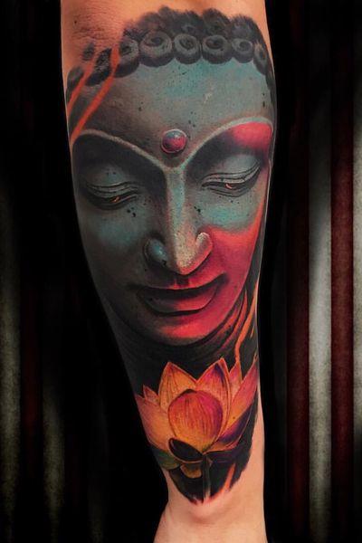 #buddha #buddhatattoo # colour #fulcolour