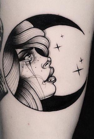 Moon🌜✨ #blackworkerssubmission #btattooing #onlythedarkest #onlyblackart #thebestspaintattooartists #thebesttattooartists #darkartists #skinartmag #tattoo #tattoos #tatuaje #tatuajes #inkjecta #beauty #blacktattooart #moon #radtattoos #tattooistartmag #ttt #blkttt #bcnttt #inkedmag #dotworktattoo #darkartist #ink #inked #blacktattoo #blackworktattoo #blackworkers