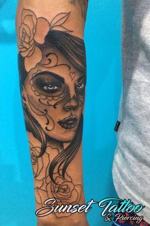 First session #catrina #lacatrina #mexican #skullcandywoman