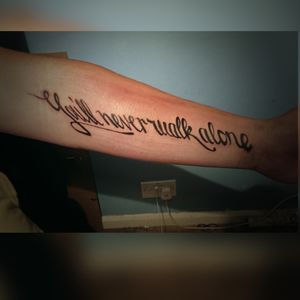 Written sentance tattoo
