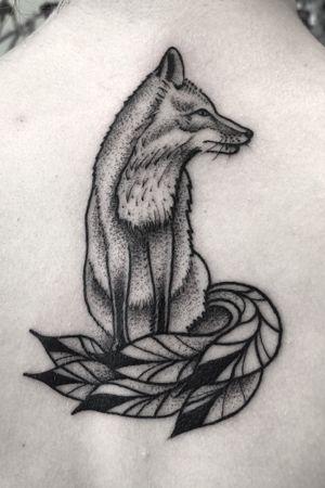 #art #tattoo #ink #foxy #fox #tattoooftheday #blackwork