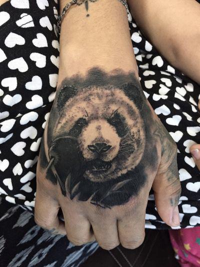 Follow me on #instagram @saith_celestino 🔓#panda #wifetattoo