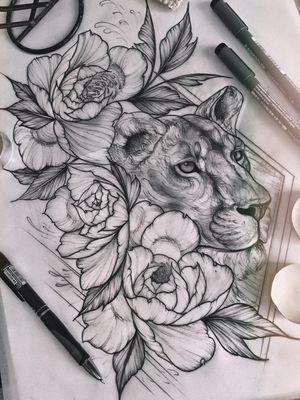 #lion #lioness #liontattoo #besttattoos #saragontie