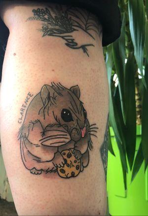 Cute lil hamster 🐹 . . . . . . . . . . #tattoo #tattooartist #tattoodesign #art #tattooistlondon #tattoouk #tattoolondon #blackandgreytattoo #picoftheday #colourfultattoo #colourtattoo #traditionaltattoo #oldschooltattoo #egomachines #stencilstuff #tattoogoo  #besttattoo #customtattyoo #mandala #dotwork #letteringtattoo #writingtattoo #tattoostudio #photooftheday #like4like #follow4follow #handpoke