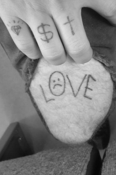 RIP PEEP #lilpeep #lil #peep #love #cross #diamond #dollar #cash #money #sad
