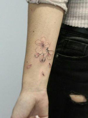 #cherryblossom #cherryblossomtattoo #cherryblossoms #cherrytattoo #cherrytree #cherryblossomflowers #cherryflowers #cherry #flower #floral #floraltattoo #floraltattoos #finelinetattoo #fineart #fineartist #delicate #delicatetattoo #delicatetattoos #tatuaggio #tatuagemfeminina #tatuagem
