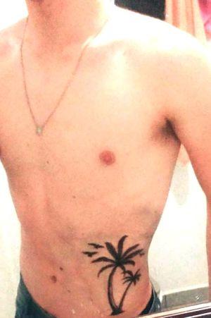 Coqueiro e pássaros, (segunda tattoo).