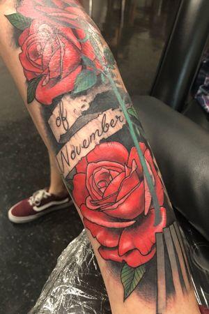 V for Vendetta tattoo. In progress #rose #rosetattoo #roseandstem #vforvendetta