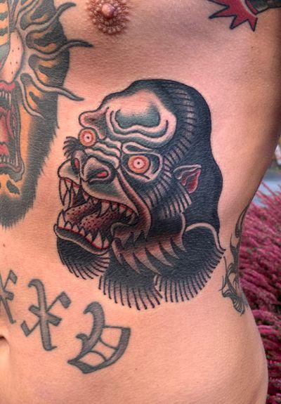 #gorilla #tattoo #ink #ribs