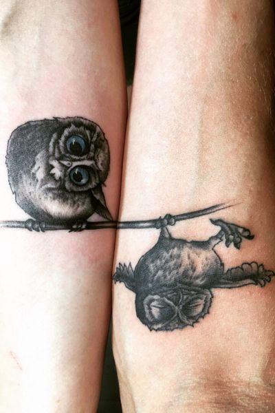 #owls #owl #owltattoo #tattooartist #tattoos #tattooing #ink #inked #tattoomodel #model #blackandgrey #blackandgreytattoo #illustration #art