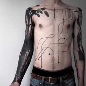 Tattoo by Gus #Gus #blastovertattoo #blastovertattoos #blastover #coverup #blackwork #abstract