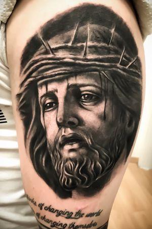 #jesustattoo #jesus #religioustattoo #bnginksociety
