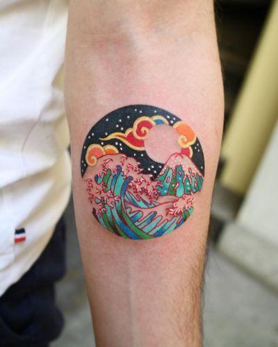 Tattoo by Pitta Kkm #Pittakkm #wave #korean