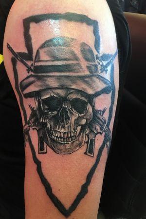 #skulls #crossrifles #arm #blackandgrey #army