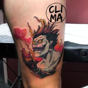 Ryuk Death note!  #tattoo #tattoos #tatoodo #tattooart #tattooartist #tattoostyle #tattoo2me #milanotattoo #ink #inked #italiachetatua #worldfamousink #animemasterink #anime #animetattoo #deathnote #ryuk #instagood #instatattoo #amazingink #photography #instagood