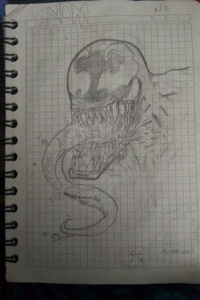 #venom #drawing #sketch #aprenticetattooist #nicework #freehand