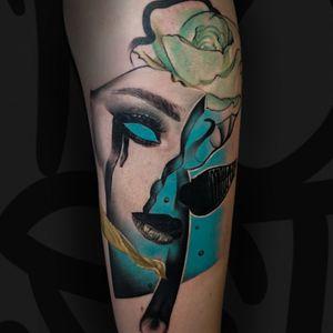 If you make negative of this pic, rose will be red 🙃 _______________________ jaer.booking@gmail.com _______________________ #tattoodo #tattoo #avantgardetattoo #jaer #jaertattoo