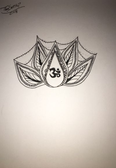 Did this new one for all my fellow trancers out there! #psytrance #om #lotus #pearls #flowerdetailing #flowers #sketch i promise ill start posting tattoos one day but so far its my drawings until january if all goes well