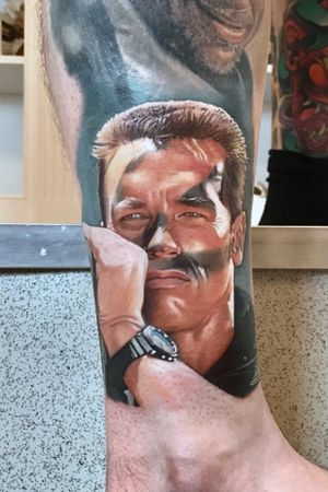 Arnie as John Matrix from Commando