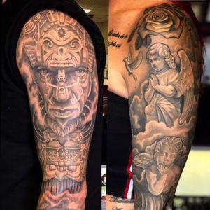 Sleeve worl #tattoosleeve #blackandgrey