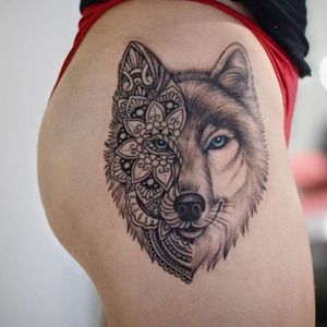 #wolfface #wolf #blackandgray #Black #shades