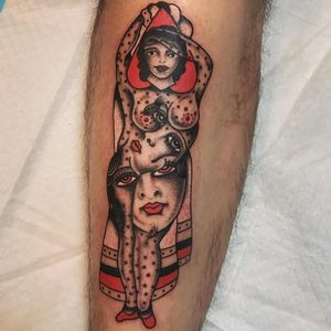 Tattoo by Boxcar #boxcar #besttattoos #best #color #traditional #folkart #picasso #abstract #ladyhead #planchette