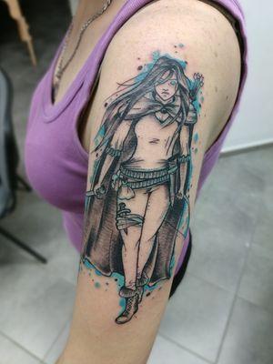 Selaena Sardothien assassin from Throne of glass by Tondrik. Do not copy please #tondriktattoo #throneofglass #tattoo #tatuajes #ucernekotvy
