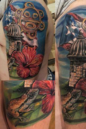 Puerto Rico themed tattoo
