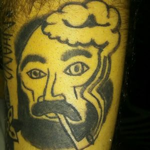 Man and pipe. #pipetattoo #pipe #cachimbo #420