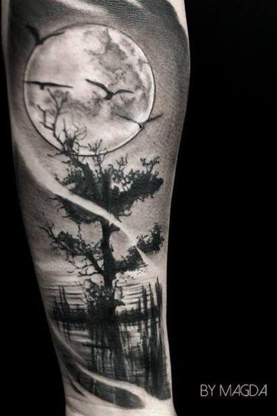 #forest #dark #trees #black #blackandgrey #tree #crow