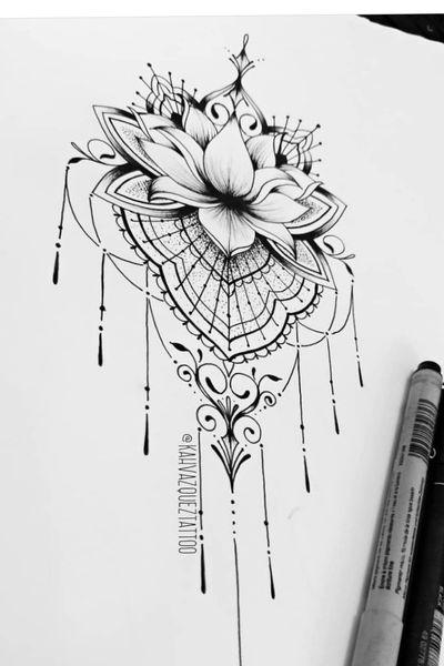 #lotusflower #Ornamental #flower by @KahVazquezTattoo #KahVazquezTattoo