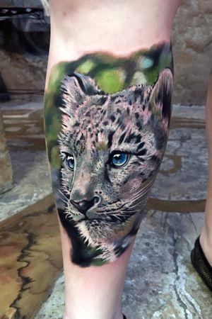 Snow leopard realism color
