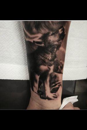 #babywolf #wolf #wolftatto #lobo #lobotattoo