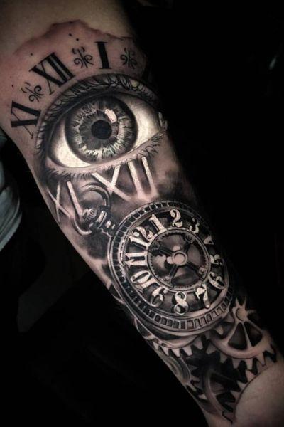 #clock #clockwork #time #eye #romannumerals