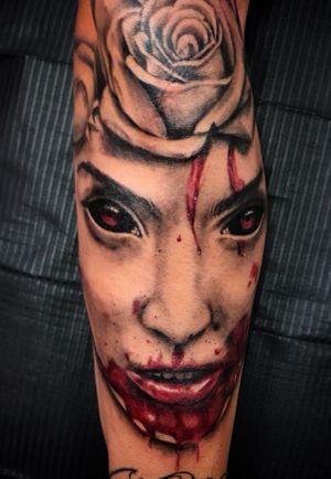 #demon #realistictattoo #red #blackangrey #color #fkirons #tattoo #tattooink #pomezia #roma #tattoolove #tattoolife #ink #inked #switzerland #inkworld #zurich #inkmania #inkmaniatattooconvention #lovemyjo #tattootime #tattoopeople #inkboy #photooftheday #worldfamousink #tattoopeople #tattoo2me