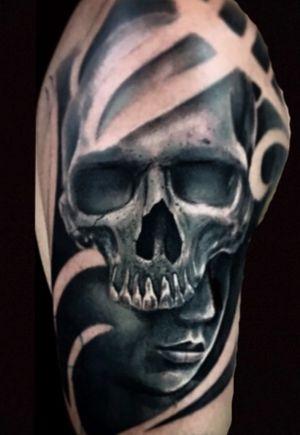 #skull #face #realistictattoo #blackangrey #color #fkirons #tattoo #tattooink #pomezia #roma #tattoolove #tattoolife #ink #inked #switzerland #inkworld #zurich #inkmania #inkmaniatattooconvention #lovemyjo #tattootime #tattoopeople #inkboy #photooftheday #worldfamousink #tattoopeople #tattoo2me