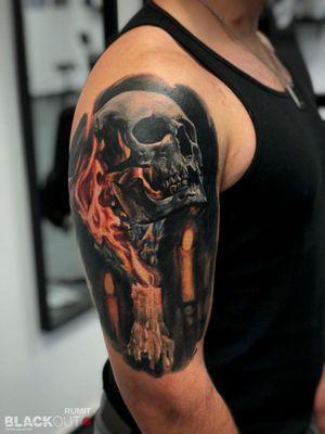 Skull & Flame. #rumittattoo #rumit