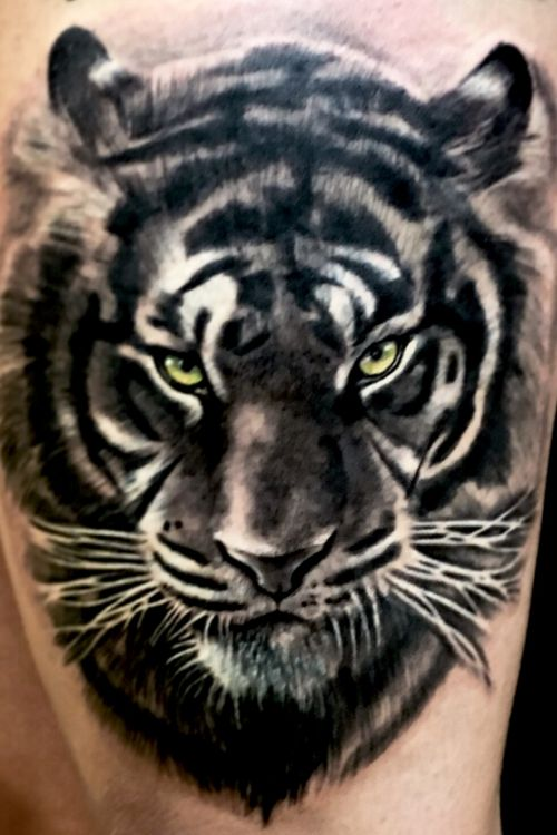 #tiger #realistictattoo #red #blackangrey #color #fkirons #tattoo #tattooink #pomezia #roma #tattoolove #tattoolife #ink #inked #switzerland #inkworld #zurich #inkmania #inkmaniatattooconvention #lovemyjo #tattootime #tattoopeople #inkboy #photooftheday #worldfamousink #tattoopeople #tattoo2me