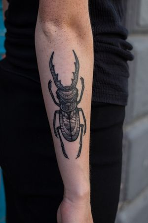 Cool bug #tattoo #ttt #tttpublishing #blackwork #BlackworkTattoos