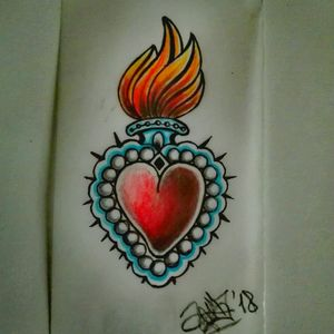 #sacredheart #drawing #illustration #myartwork #lovemyjob #workinprogress