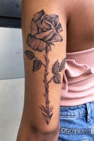 #rose #linework #flower #floral #botanical #rosetattoo #nyc