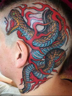 #snake from my days working at the Kings Ave Tattoo NYC. Find me now at Hot Stuff Tattoo(NC) and Greenpoint Tattoo Co.(NYC). Email chuckdtats@gmail.com for booking info.